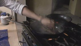 Filet Mignon Cooking On The Stove stock video