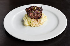 Filet mignon with mash potatoes Royalty Free Stock Image