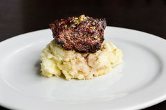 Filet mignon with mash potatoes Stock Photo
