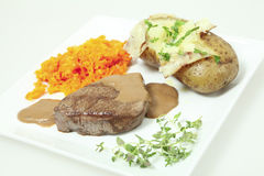 Filet mignon meal Stock Photos