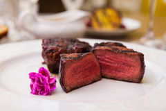 Filet mignon meal Royalty Free Stock Photography