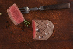 Filet mignon, sirloin steak. Royalty Free Stock Photo