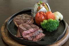 Filet Mignon Steak. Pepper steak stock photos
