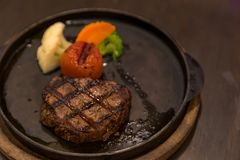 Filet Mignon Steak. Pepper steak stock photo