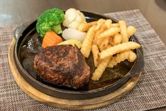 Filet Mignon Steak. Pepper steak royalty free stock photography
