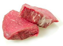 Filet mignon steaks with light shadow Royalty Free Stock Photography