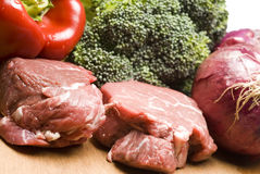 Filet Mignon Steaks With Vegetables Stock Photography