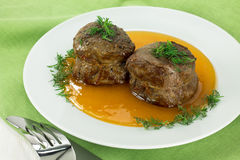 Filet mignon with sweet sauce Stock Photography