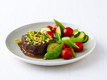 Filet mignon and vegetables Royalty Free Stock Image