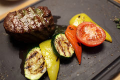 Filet mignon with vegetables Royalty Free Stock Photography