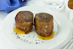 Filet mignon wrapped in bacon Royalty Free Stock Photography