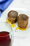 Filet mignon wrapped in bacon Royalty Free Stock Photos