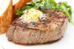 Filet parfait de filet de rôti de porc Photographie stock libre de droits
