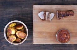 Filet rôti de porc Photographie stock libre de droits