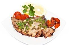 Filet rouge sicilien de thon Photos stock