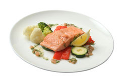 Filet from a salmon Stock Image