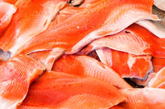 Filet of salmon at fishmarket Stock Photography