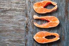 Filet saumoné cru photographie stock