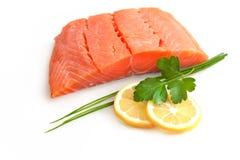 Filet saumoné frais photo stock