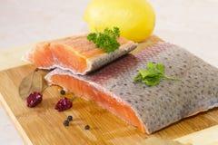 Filet saumoné frais Image stock