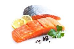 Filet saumoné frais photographie stock libre de droits