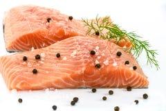 Filet saumoné frais photos libres de droits