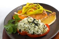 Filet saumoné grillé images stock