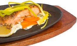 Filet saumoné grillé   Image libre de droits