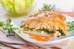 Filet saumoné Photos stock