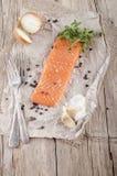 Filet saumoné irlandais légèrement fumé Image stock