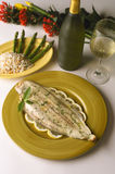 Filet of Sole. Gourmet Sea Food Stock Photography