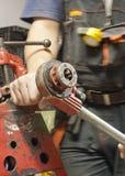 Filetage du tuyau d'acier Image libre de droits