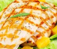 Filete asado a la parilla del pollo Fotografía de archivo