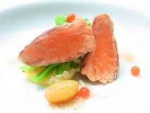 Filete asado a la parilla salmones Fotos de archivo