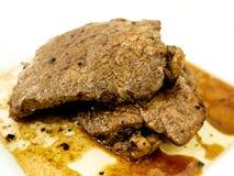 Filete chamuscado del ribeye Foto de archivo libre de regalías