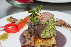 Filete cocinado de la ternera Foto de archivo libre de regalías