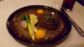 Filete con las verduras Foto de archivo libre de regalías