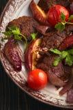 Filete con las verduras imagenes de archivo