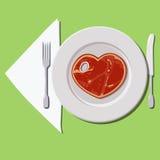 Filete-corazón Fotografía de archivo