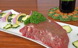 Filete crudo del filete de carne de vaca Imagen de archivo