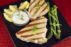 Filete de atún asado a la parilla Imagen de archivo libre de regalías
