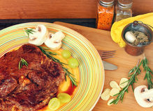 Filete de carne de vaca Foto de archivo libre de regalías