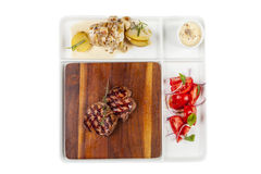 Filete de carne de vaca asado a la parrilla Imágenes de archivo libres de regalías