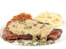 Filete de carne de vaca con pimienta imagen de archivo libre de regalías