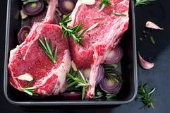 Filete de carne de vaca sin procesar Imagen de archivo