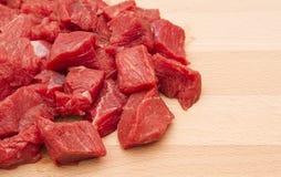 Filete de carne de vaca tajado fresco fotografía de archivo libre de regalías