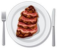 Filete de carne de vaca preparado ilustración del vector