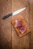 Filete de carne de vaca sin procesar Fotografía de archivo libre de regalías
