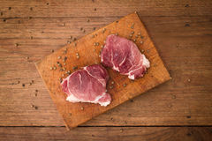 Filete de carne de vaca sin procesar Imágenes de archivo libres de regalías
