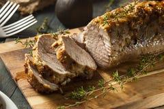 Filete de cerdo caliente hecho en casa Foto de archivo
